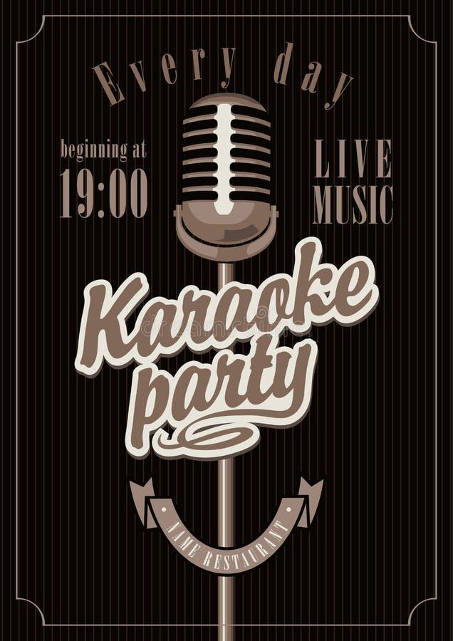Karaokepartij royalty-vrije illustratie