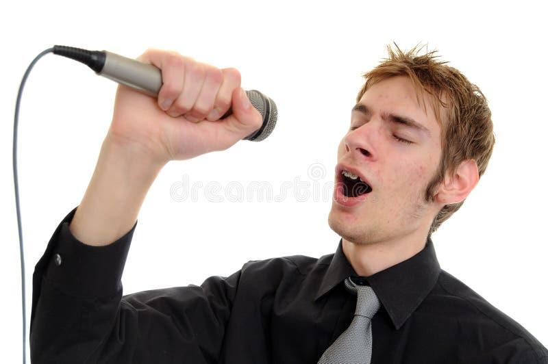 karaokesångare arkivbilder