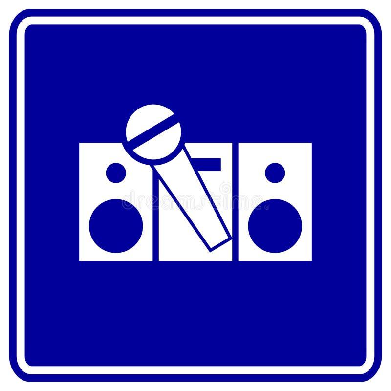 Karaokezeichenstereolithographie und Mikrofonvektor vektor abbildung