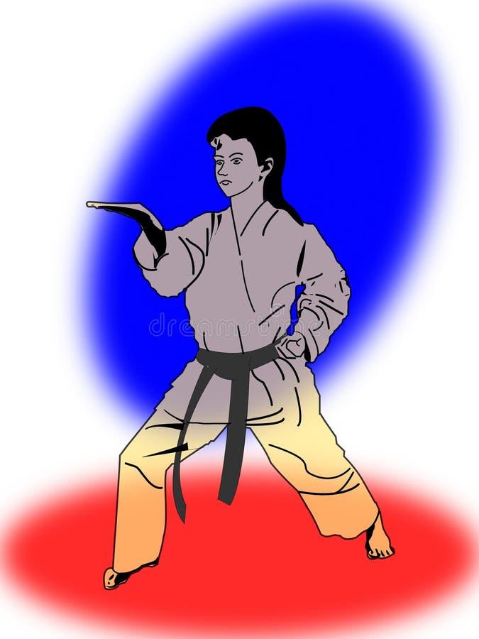 Karatè royalty illustrazione gratis