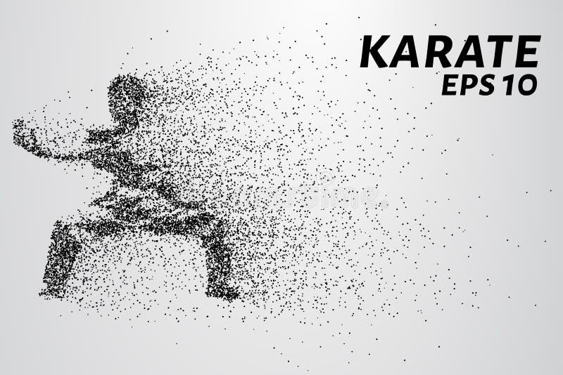 Karaté des particules Le karaté se compose de petits cercles Illustration de vecteur illustration libre de droits