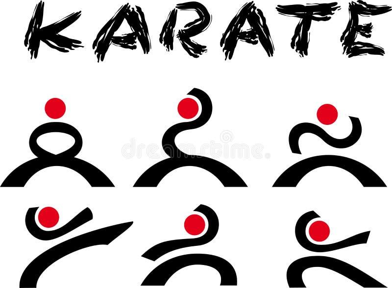 Karaté do logotipo ilustração do vetor