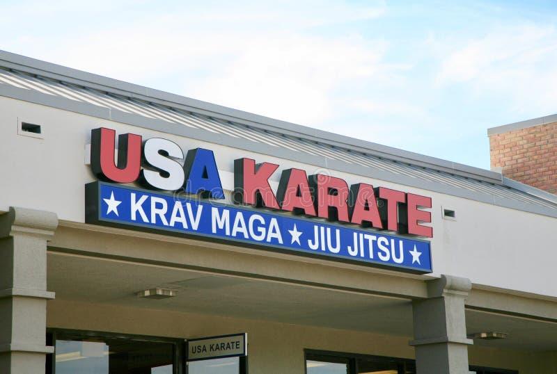 Karaté dos EUA imagens de stock royalty free
