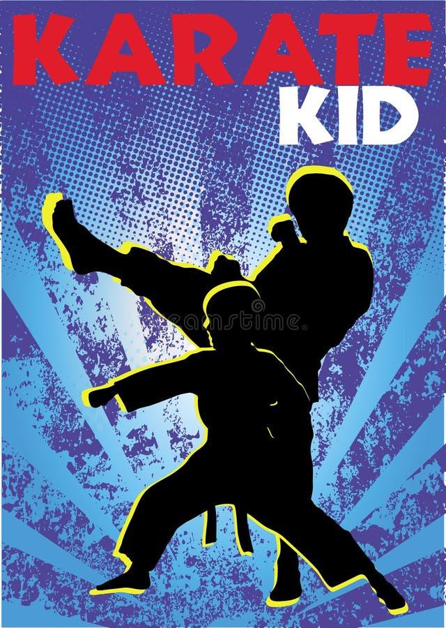 karate żartuje plakata wektor royalty ilustracja