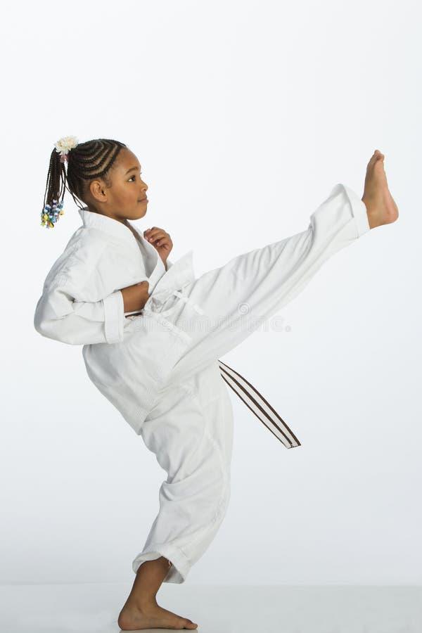 Karate λάκτισμα! στοκ εικόνα