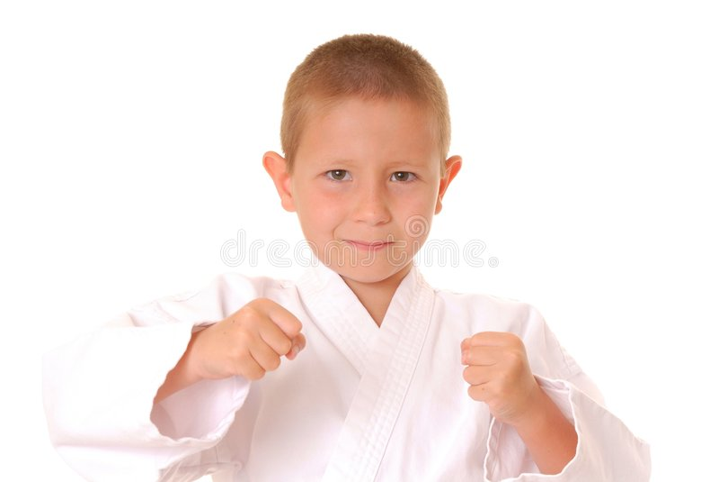karate αγοριών στοκ φωτογραφία με δικαίωμα ελεύθερης χρήσης