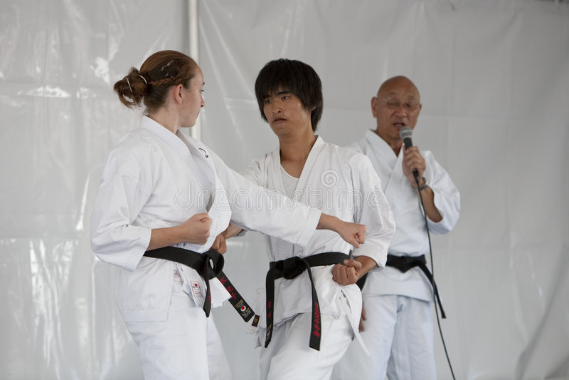 karate επίδειξης στοκ φωτογραφία