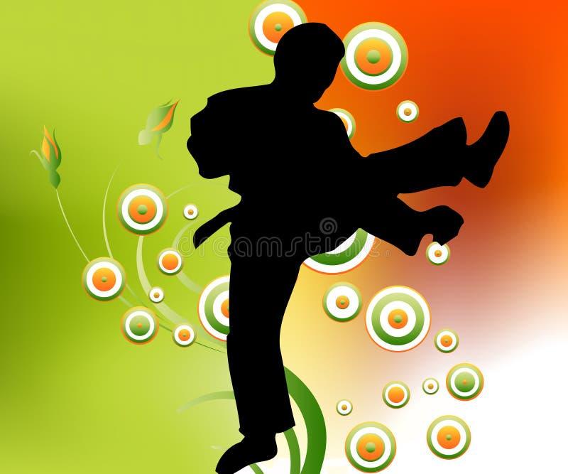 karate κινήσεις διανυσματική απεικόνιση