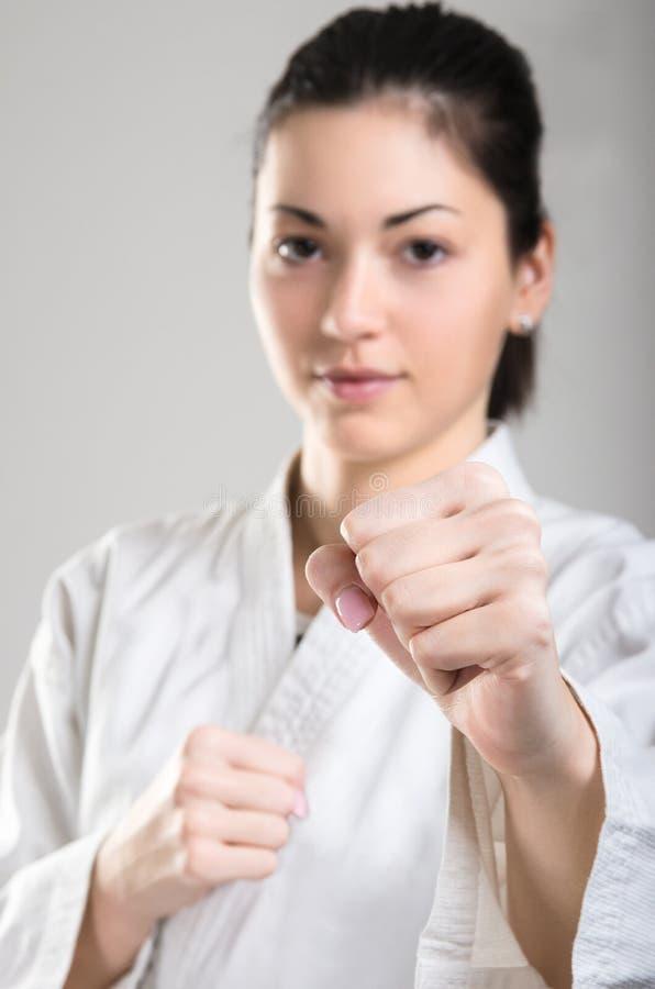 Karate κορίτσι στοκ φωτογραφίες