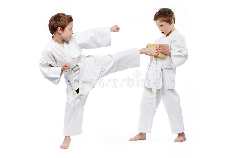 Karate παιδιά στοκ εικόνες