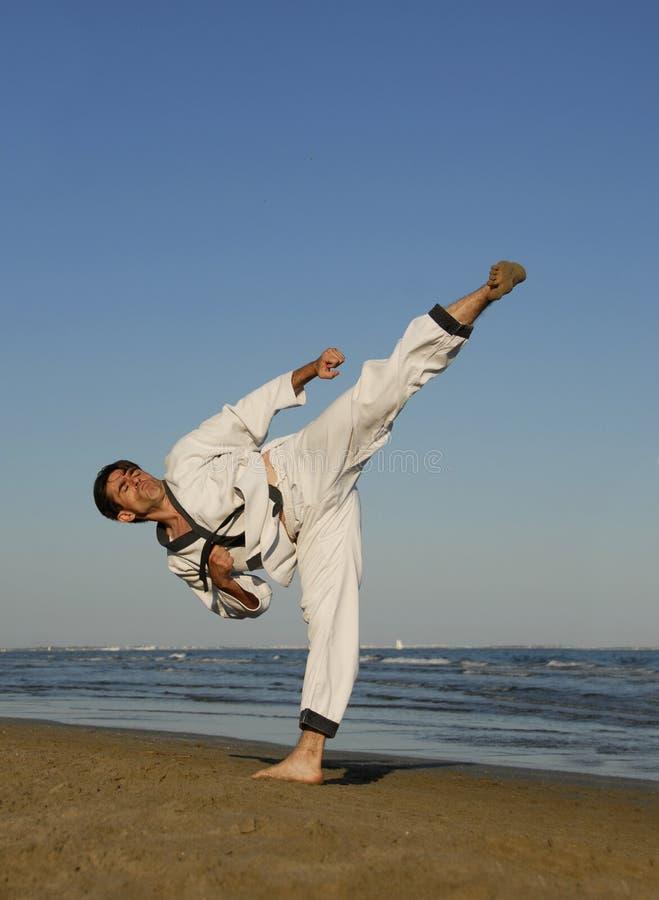 karate παραλιών στοκ φωτογραφίες