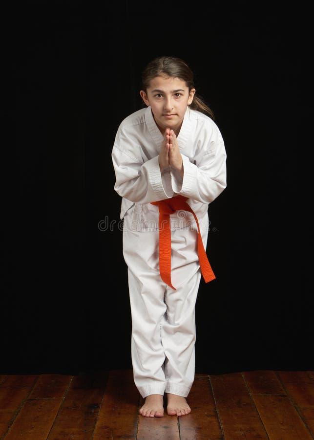 karate σπουδαστής στοκ εικόνες με δικαίωμα ελεύθερης χρήσης