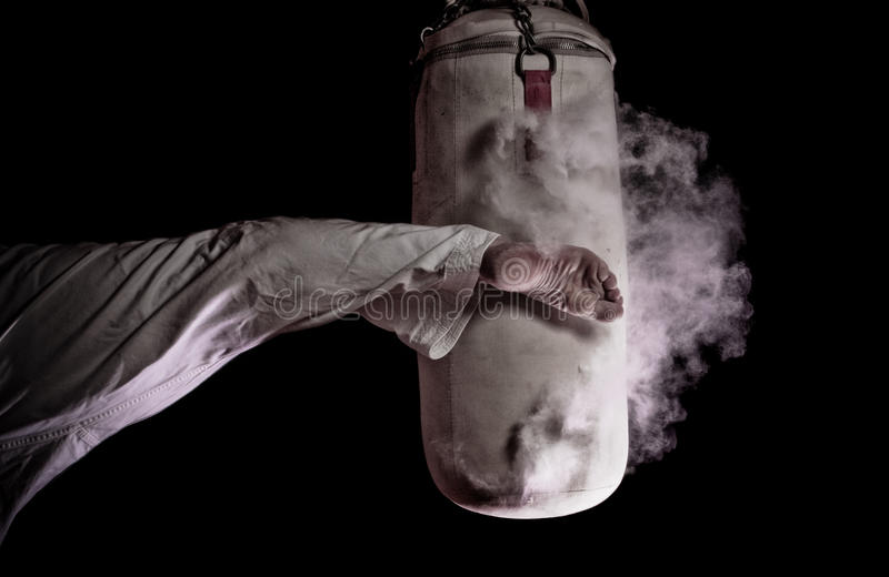 Karate στρογγυλό λάκτισμα στοκ εικόνες με δικαίωμα ελεύθερης χρήσης