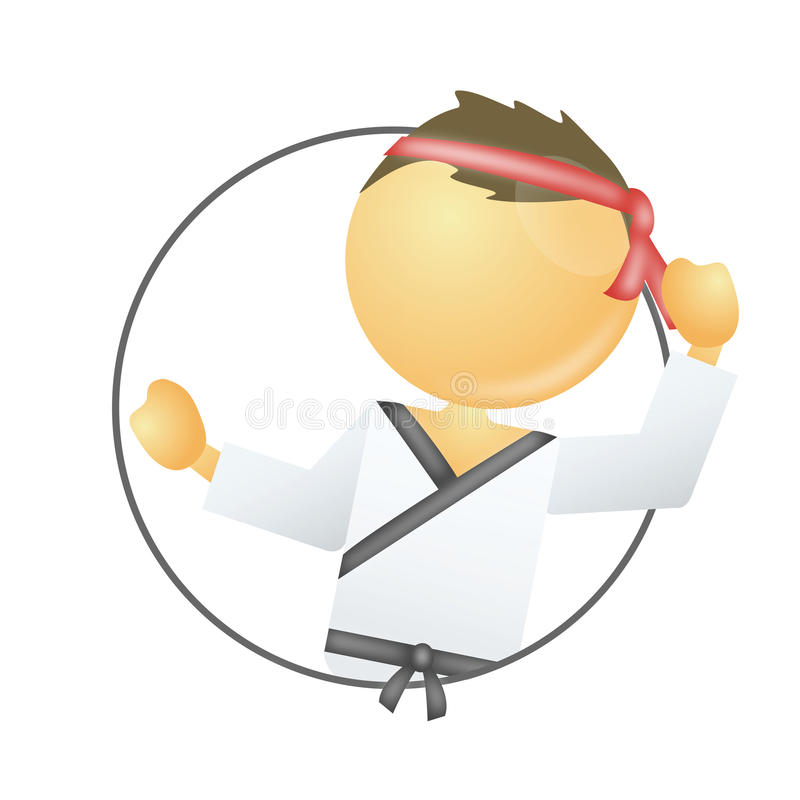 karate royalty ilustracja