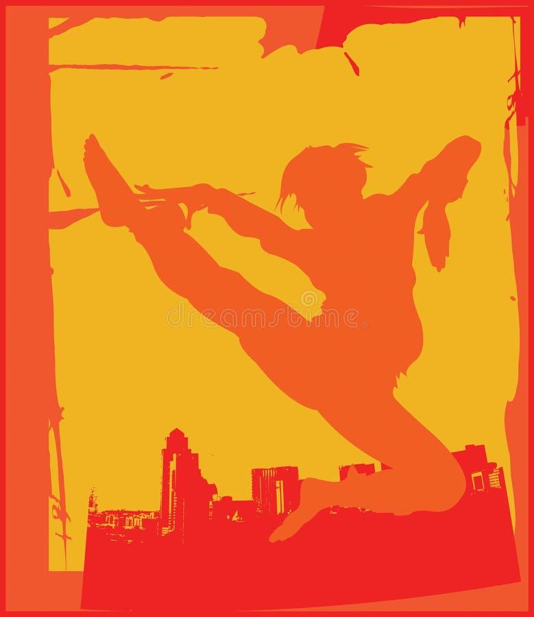 karate 2 poserar royaltyfri illustrationer