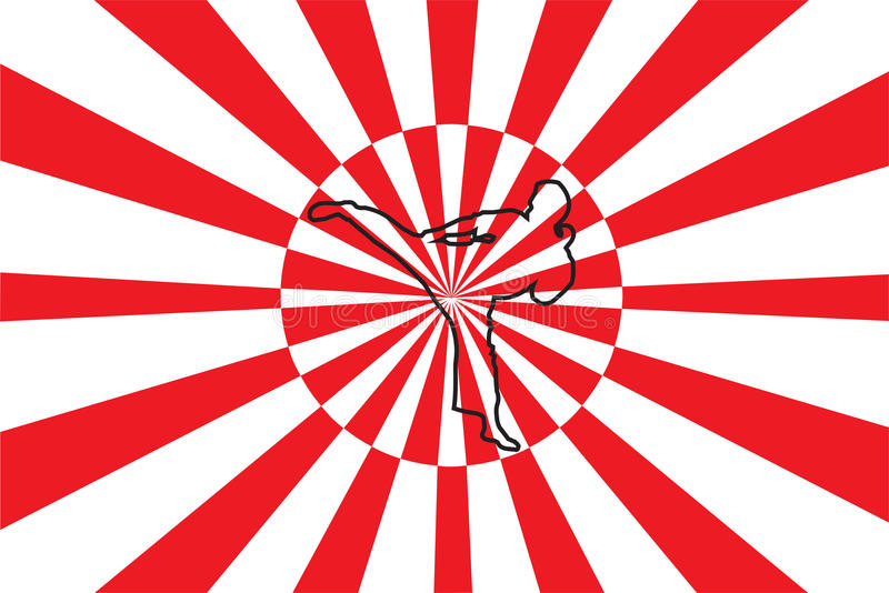 Karate stock illustrationer