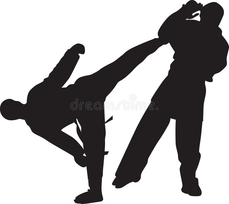 Karate. Two karate man at the competition vector illustration