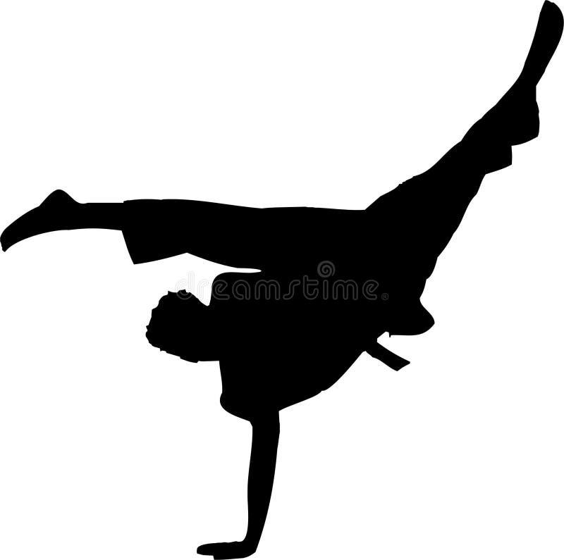 karate 4 royaltyfri illustrationer