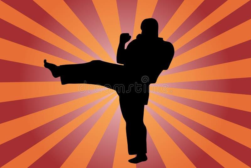 karate vektor illustrationer