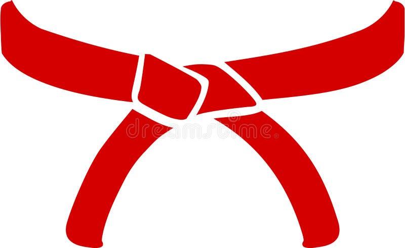 Karate belt. Vector sports icon royalty free illustration