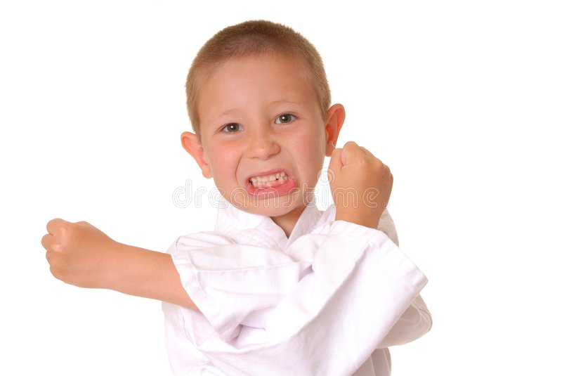 Karate Boy royalty free stock images