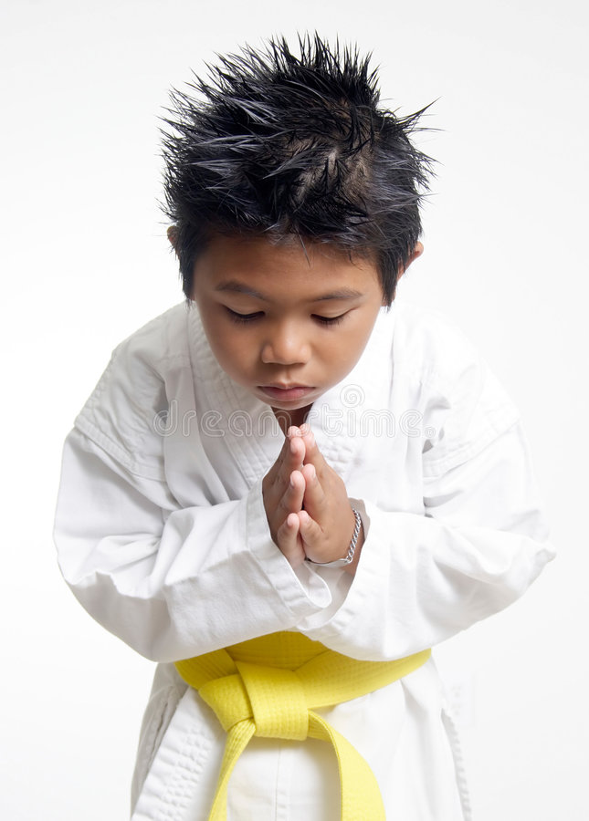 Free Karate Boy Bowing Stock Photography - 188382