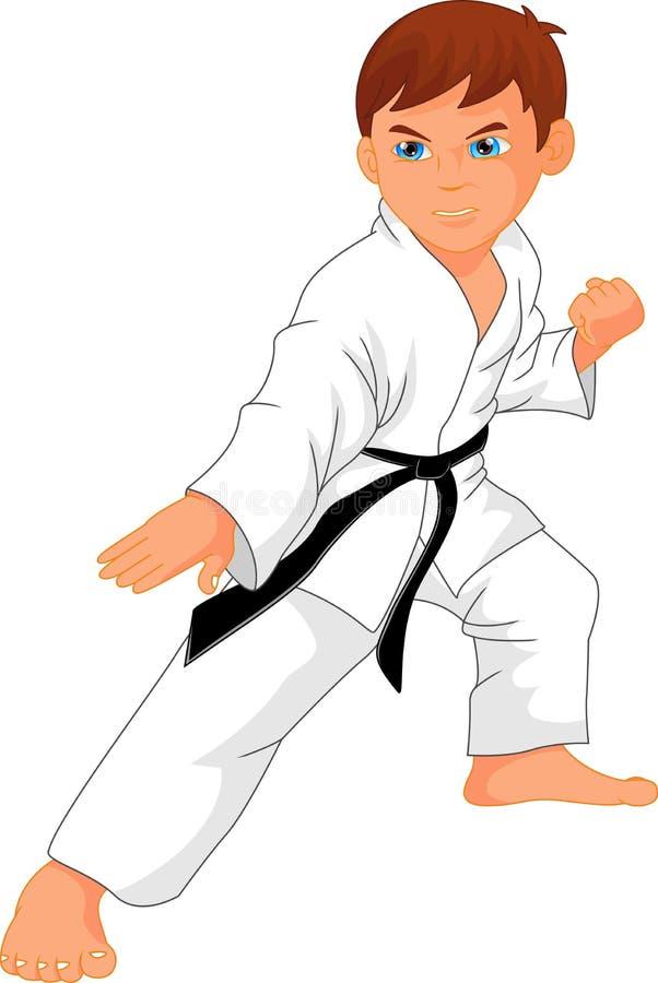 Download Karate Boy Cartoon Stock Vector - Image: 83709969