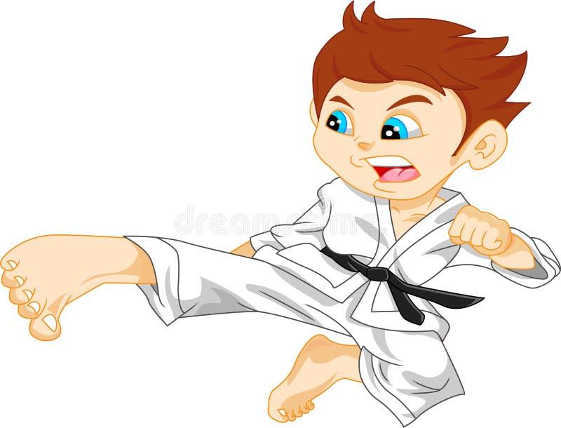 Karate boy. Illustration of cute karate boy vector illustration