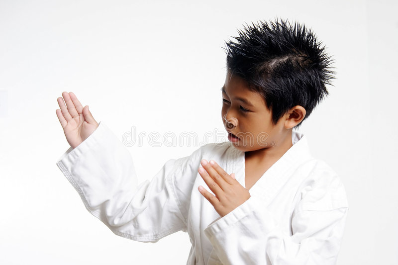 Karate Chop royalty free stock photography