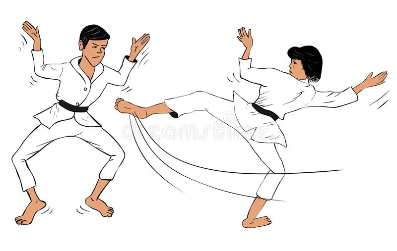 Download Karate Couple stock vector. Image of aikido, friendship - 22532797