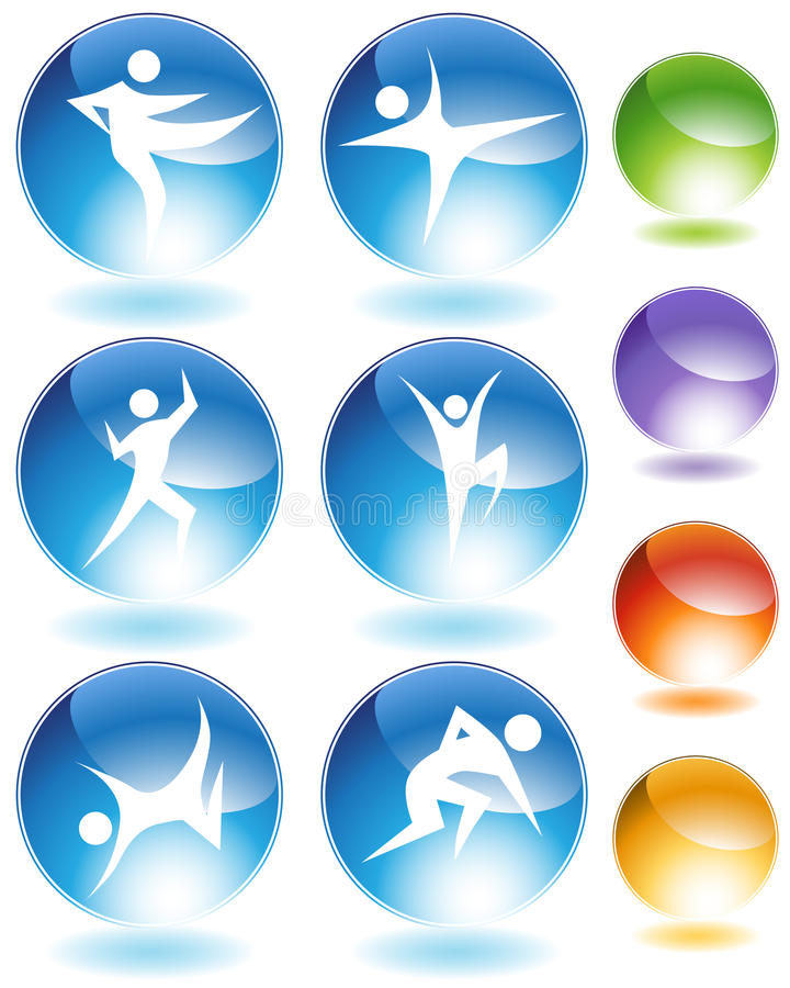 Karate Crystal Icon Set