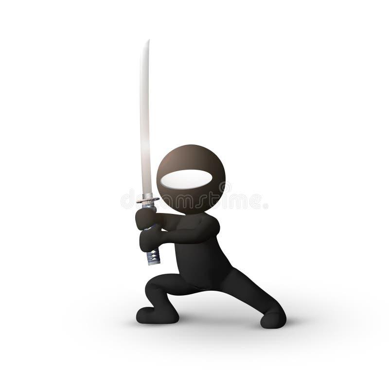 Karate de Ninja stock de ilustración