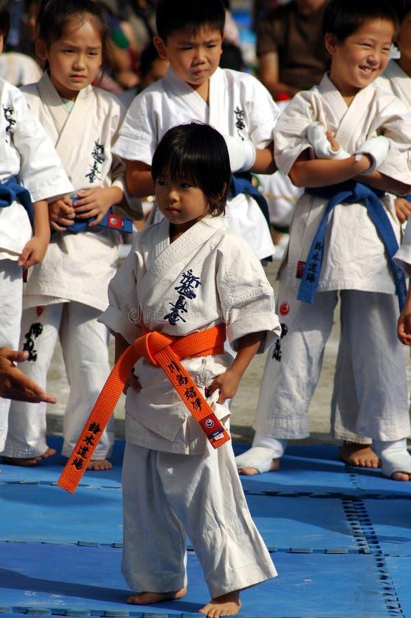 Karate dzieciaki zdjęcie stock