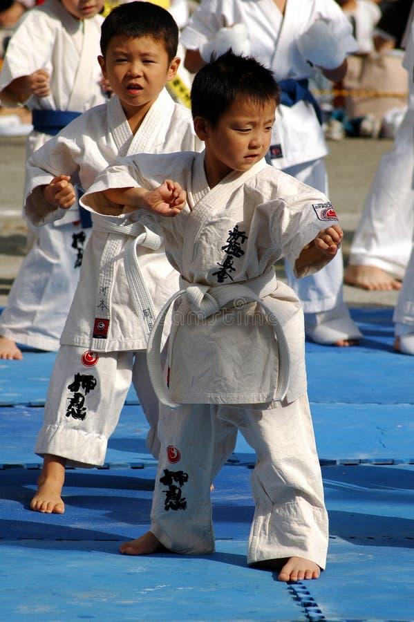 Karate dzieciaki zdjęcie royalty free