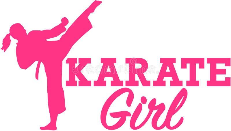 Karate dziewczyna ilustracja wektor