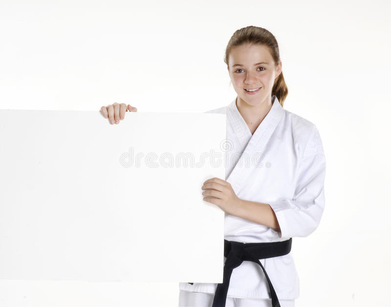 Karate dziewczyna. zdjęcie royalty free