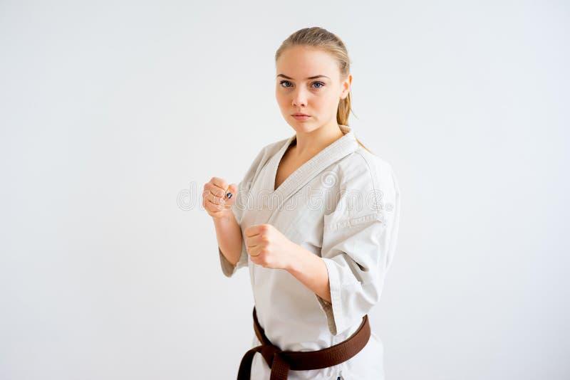 Karate dziewczyny szkolenie obraz royalty free