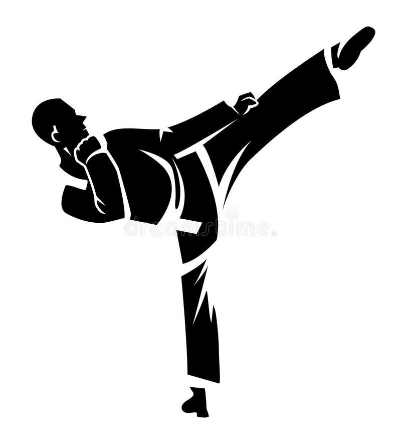 Karate. Eps 10 illustration Design stock illustration