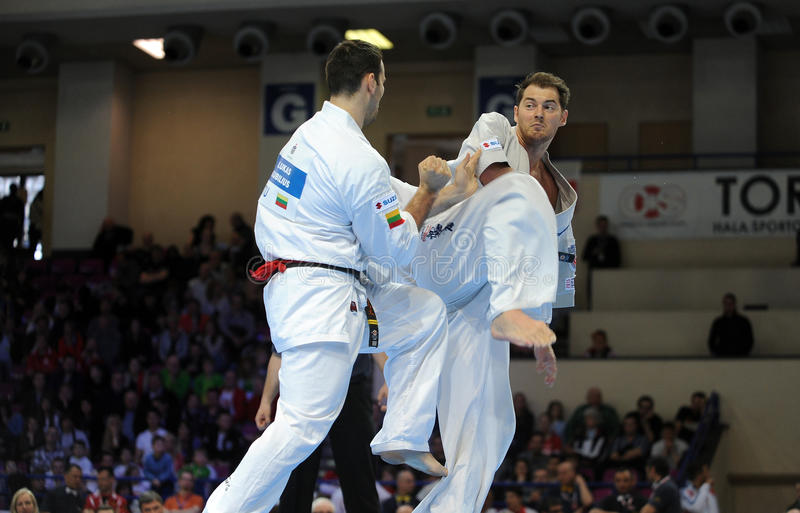 Karate European Championship stock images