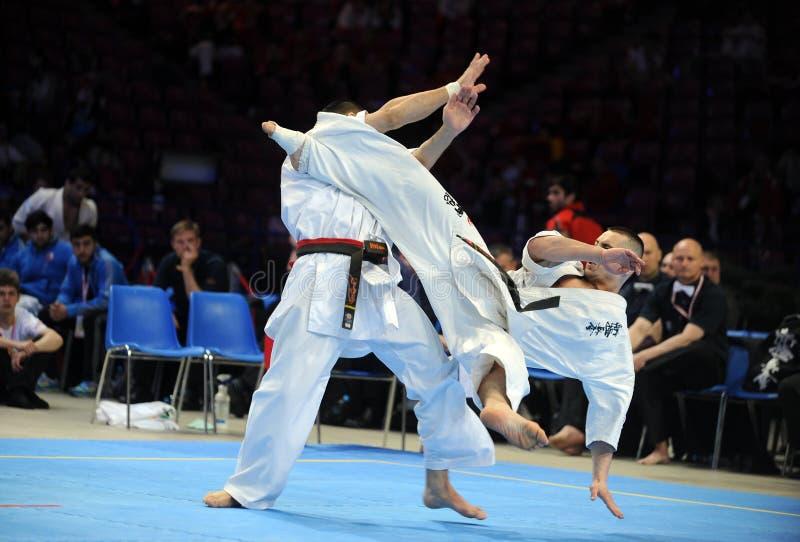 Karate europejczyka mistrzostwo obraz royalty free