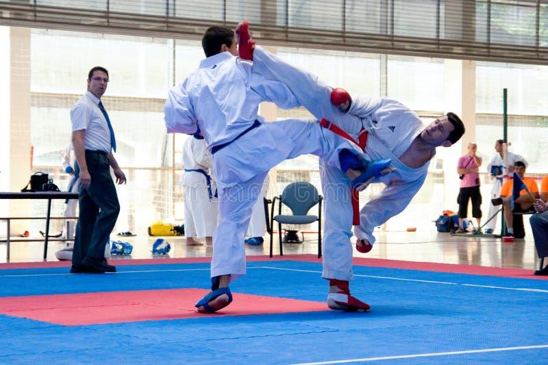 Karate EUROPOLYB 2010 royalty-vrije stock afbeelding