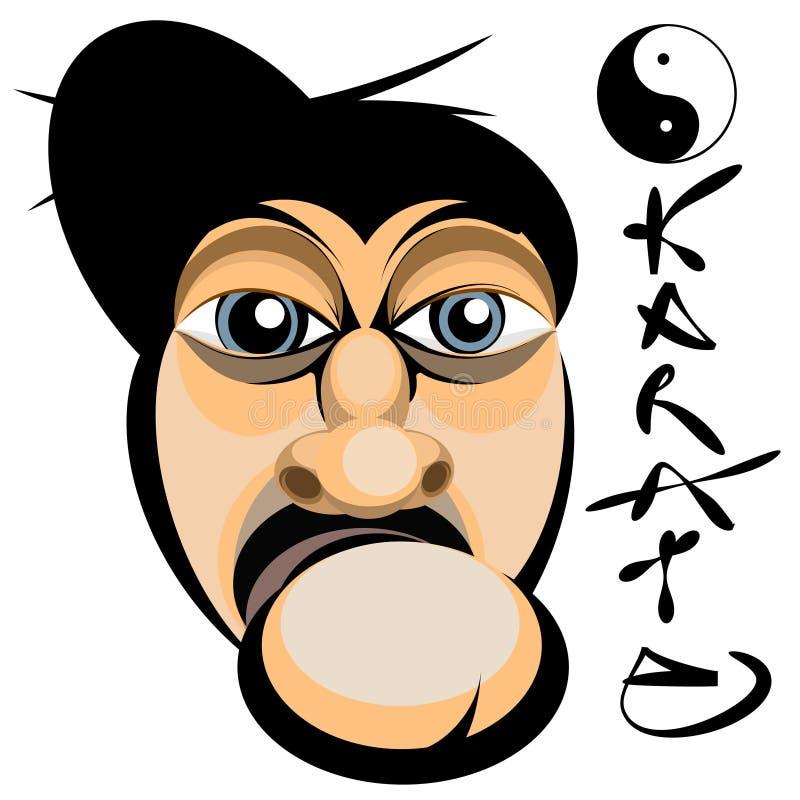 Karate face. Vector illustration of karate face royalty free illustration
