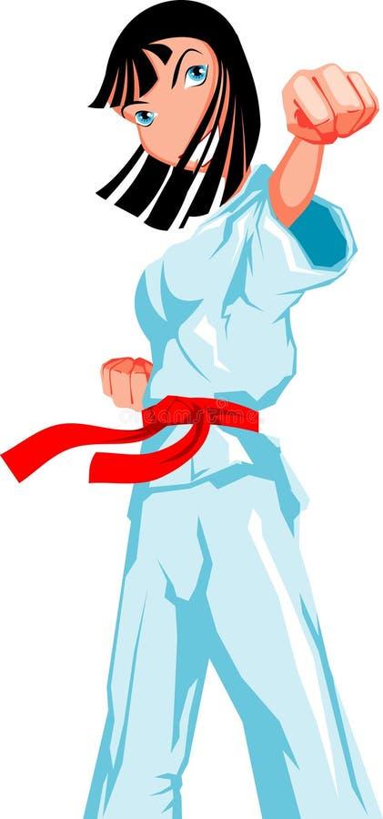 Download Karate girl stock vector. Illustration of sport, expression - 13866668