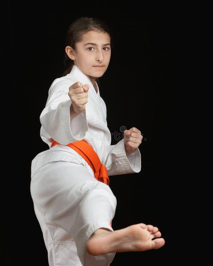 Download Karate girl stock photo. Image of caucasian, kimono, isolated - 18503886