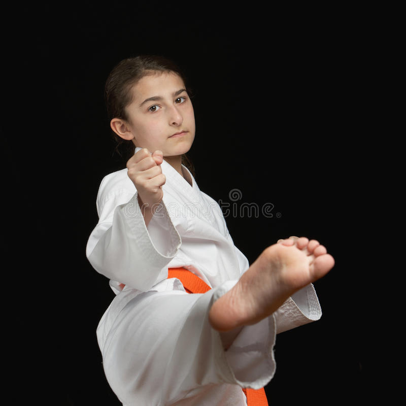 Download Karate girl stock image. Image of little, caucasian, childhood - 18503895