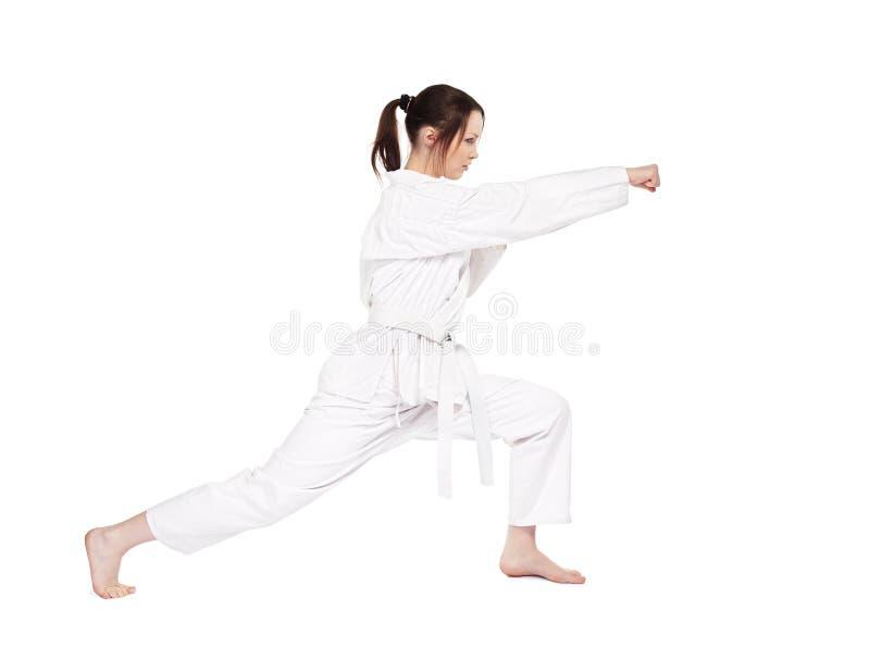 Karate girl royalty free stock image