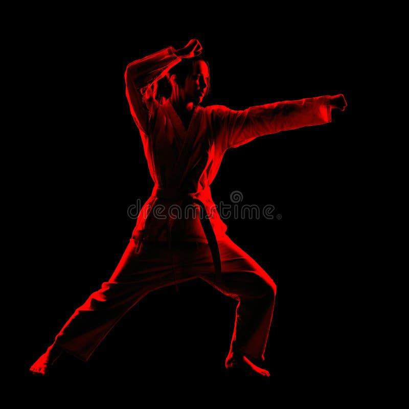 Karate girl royalty free stock photography