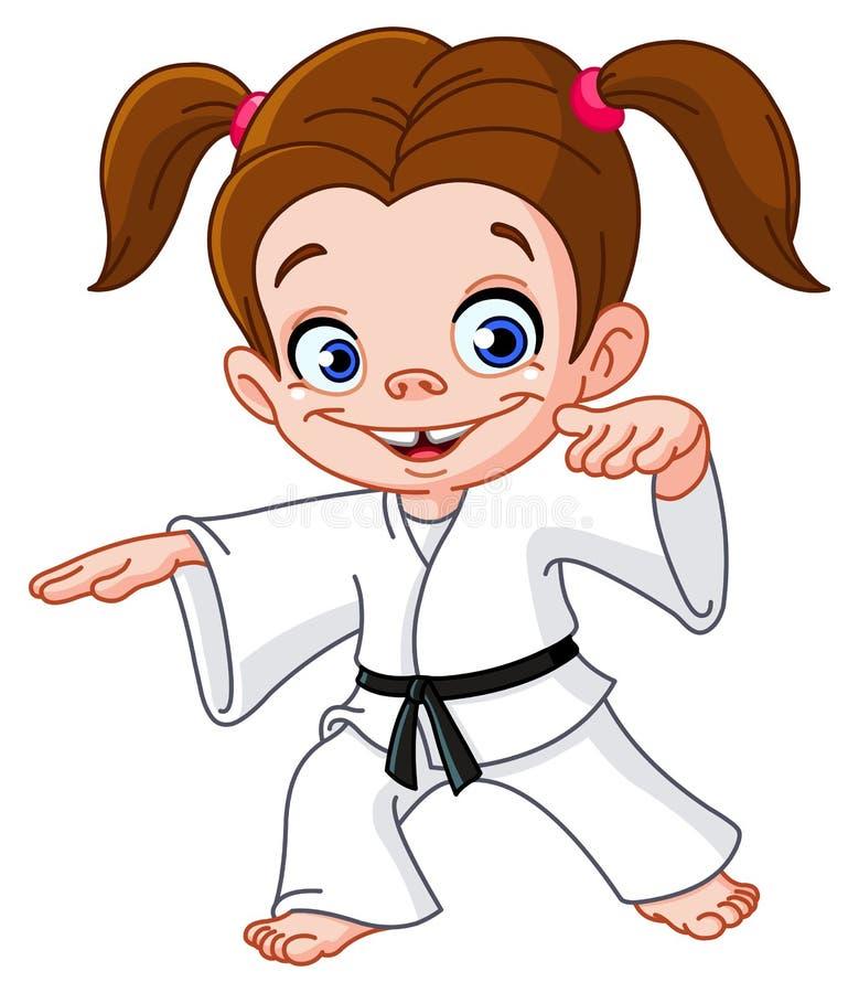 Karate girl vector illustration