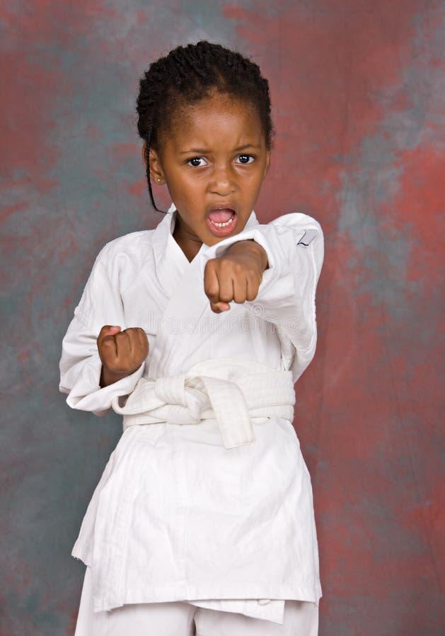 Karate girl royalty free stock images