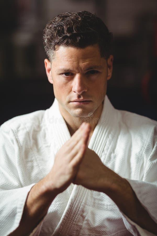 Karate gracza ćwiczyć zdjęcia royalty free